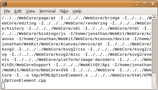 Screenshot of building a WebKit browser