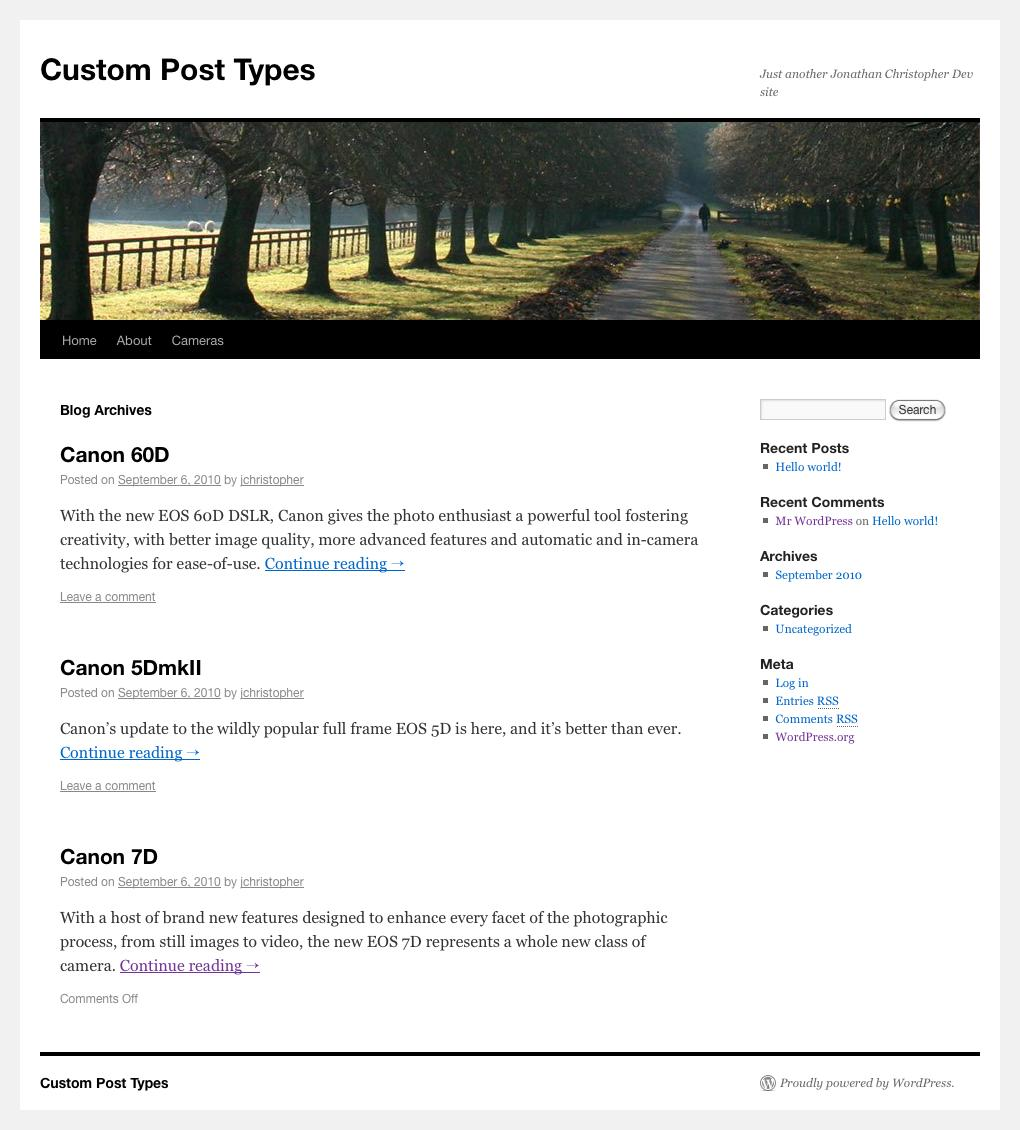Wordpress archive pages based on custom taxonomy default post listing based on taxonomy pronofoot35fo Image collections